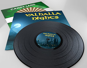 Vinyl Record 3D model VR / AR ready