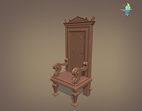 3D model 16th Century Gothic Walnut Chair