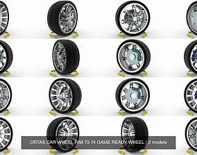 3D model ORTAS CAR WHEEL RIM 73-74 GAME READY WHEEL