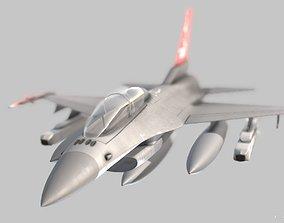 3D model F-16 aircraft