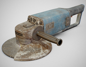3D asset Angle Grinder - AEG WSA 1780S Dirty