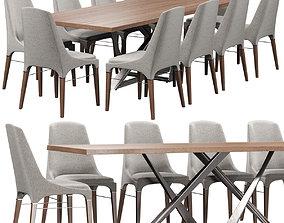 3D Chair Bontempi Kelly Millennium table