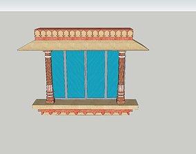 indian jodhpuri stone jharokha 3d animated 1