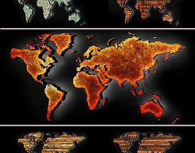 world 3D model World map