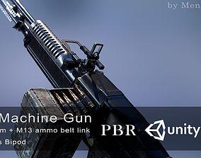3D asset M60 machine gun