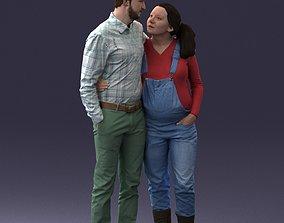 Man with pregnant woman 0328 3D Print Ready