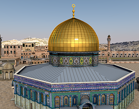 Al-Aqsa Mosque The Dome of the Rock 3D model animated
