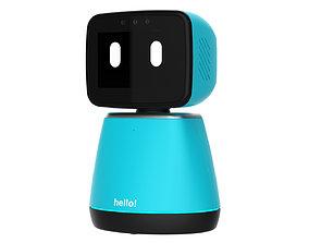 3D model Generic Home Assistant Robot 01 Light Blue
