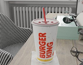 Burger King Photorealistic PBR Cup 3D model