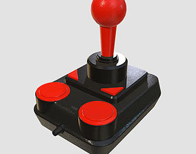 Retro Kempston Joystick 3D model game-ready