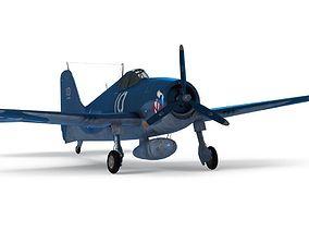 3D asset Grumman F6F-3