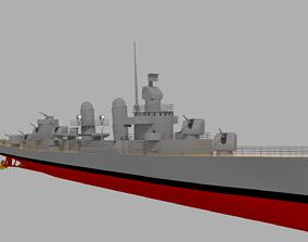 3D USS Fletcher DD-445 Destroyer