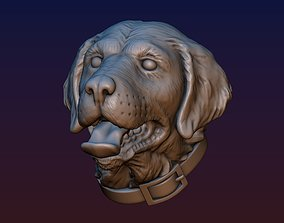 3D print model Labrador head dog