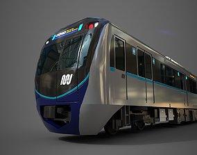 VR / AR ready MRT Jakarta Train 3D Model AR VR Games Ready
