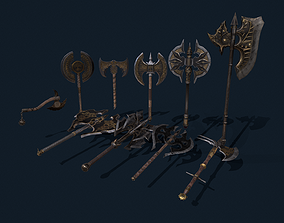 Axe Fantasy Game 3d model Low-poly 3D collections