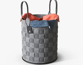 Laundry basket bathroom 3D