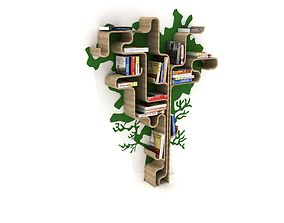 3D asset Decorative Bookshelf With Tree Form