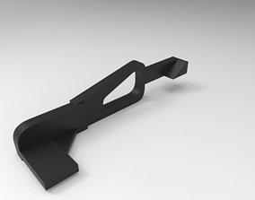 3D printable model tri-shot nozzle latch