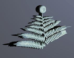 Fern necklace 3D print model
