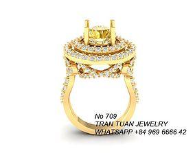 709 Diamond Ring 3D print model