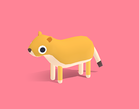 3D asset Lisa the Lioness - Quirky Series