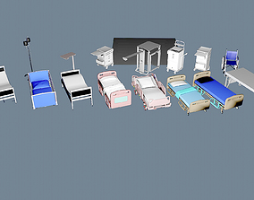 Hospital Goods Collection 3D model