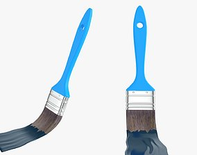 3D Paint brush painting