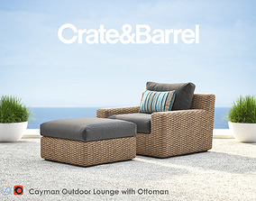 3D Cayman Outdoor Lounge with Ottoman
