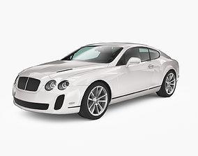 3D asset rigged Bentley Continental SuperSports 2010