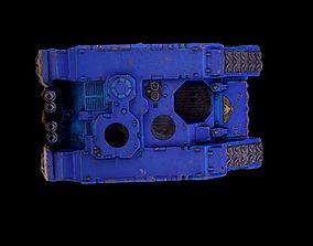 Warhammer 40k Land Raider model weathered corroded