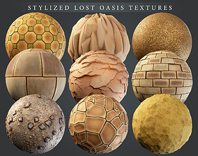 3D asset Stylized Lost Oasis PBR material pack