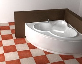 Corner Bathtub 3D model