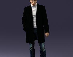 Man in black cloak 0071 3D Print Ready