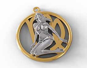 3D printable model Virgo symbol