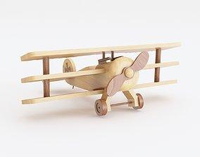 3D model Wooden toy biplane 05
