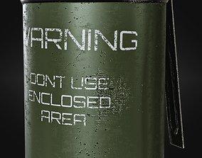 Smoke grenade 3D asset low-poly retro