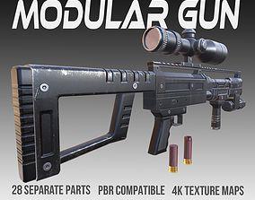 3D asset Modular Shotgun PBR Vol 1