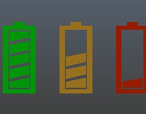 Low poly battery symbol 2 3D model