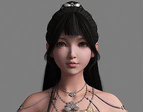 3D asset Ancient Chinese Little Girls Loli pretty beauty