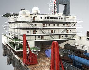 ship 3D model Derrick Lay Vessel