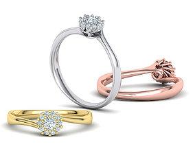3D printable model Engagement ring Paradise 122 centr 3mm