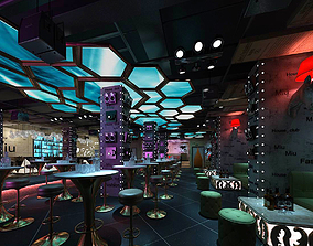3D Hotel entertainment KTV bar disco Sing 044