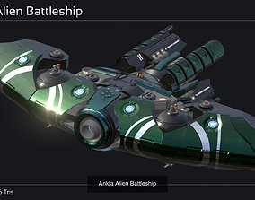 Ankla Alien Spaceship Collection 3D model