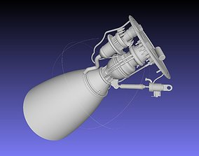 Space-X Raptor BFR Engine Simplified Printable Model