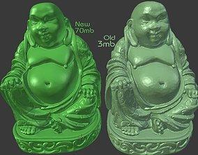 Buddha Hi-Res statue Flat Bottom 3D print model