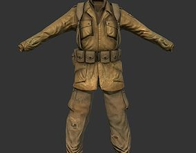 3D asset World War 2 American Soldier Uniform
