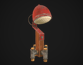 3D model DIY Red Lamp