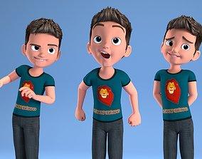 CARTOON CHILD - BOY RIGGED 3D model