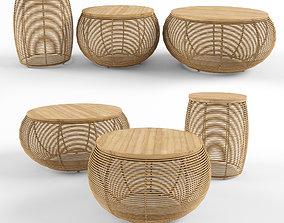 3D model Vivi Basket Coffee Table Vincent Sheppard