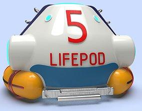 Subnautica Lifepod aquarium decoration game 3d model